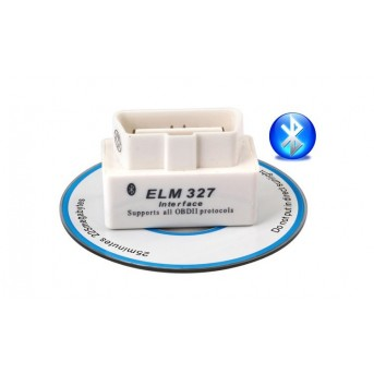 10 Pieces SUPER MINI ELM327 Bluetooth OBD2 V2.1 White Smart Car Diagnostic Interface ELM 327 Wireless Scan Tool
