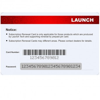 LAUNCH Official  Pin card software update card support for 12 V Gasoline&Diesel for X431 V/V+/PRO/Pro Mini/Diagun IV
