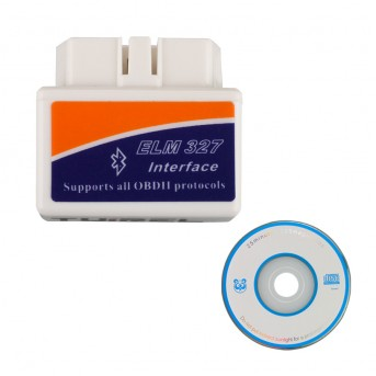 10 Pieces Super MINI ELM327 Bluetooth OBD2 V2.1 White Smart Car Diagnostic Interface